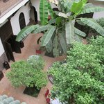 looking down on courtyard