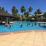 The beautiful pool with swim up bar