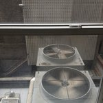 View from room - big and noisy and smelly extractor fan