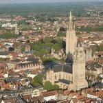 Cruising above Bruges.