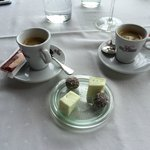 Coffees served with homemade chocolates & marshmallows