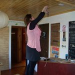 Sandra likes to do many things in the hostel on her own ;)