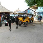 Cidomo en calle de Trawangan