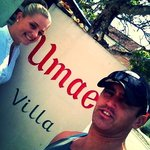 Selfie out the front of Umae Villas
