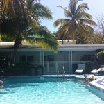 The tranquil pool at Orchid Key Inn