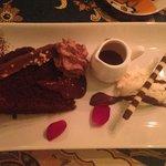 Pudding - chocolate and amaretti cake