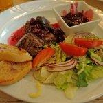 "Goose Liver Salad. ""Gesi Puch"" Restaurant."