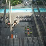 View of the pool from our floor