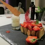 Millefeuille fraise rhubarbe