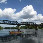 River Kwai bridge-view from the floating restaurant