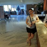 In hotel's reception