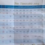 2014 bus timetable