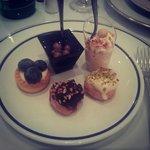 Deserts during dinner