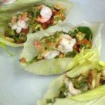 Prawn Lettuce Wraps with Mango Salsa