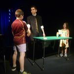 My son taking part in Armando Vera close-up magic