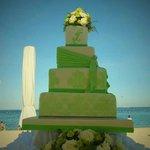 Crimson Resort and Spa wedding cake