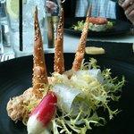 N Sea Crab, Fennel & Radish salad with sesame crouton(s)