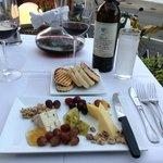 2000 Barolo accompanied by cheese platter