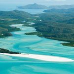 Hill inlet from the air