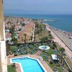 piscine+plage vue du 8 eme etage