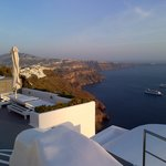 View from the room, looking towards Fira