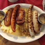 Metzger sausage platter