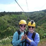 Zeta Tau Alpha's do Zip lining! (Yes, were actual sisters too)