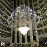 central huge chandelier