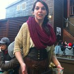 Waitress in medieval costume