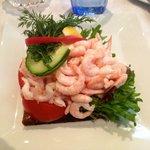 Shrimps-Brot