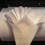 The housekeeping staff gets fancy with the toilet paper!