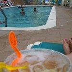Drinks poolside