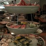 Infamous seafood tower