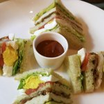 The Club Sandwich, with generous amount of avocado.