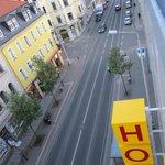 Hotel Blick auf die Strasse