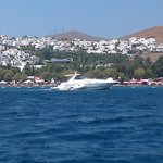 view of the beach from boat