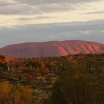 Ayers Rock zoomed in from Imalung lookout