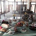 Easter lunch; dessert table