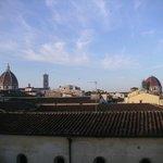 La chambre a vue sur le Duomo et le San Lorenzo. Le seul point positif.