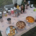Snack on game drive