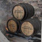 Wine maturing in oak casks