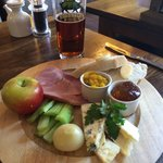 Excellent Ploughmans and local pint of  T.E.A.
