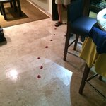 Rose petals left in our sons room