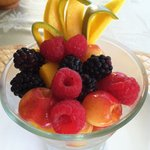 First course heavenly healthy fresh fruit!