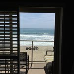 View from inside the ocean front room, 2nd floor