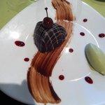 Chocolat-griotte-glace pistache !