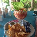 For a nominal fee, the chef turned our catch into wonderful ceviche