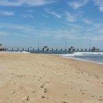 Beach Immediately Behind Hotel Showing Jennette's Pier