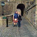 At Stirling Castle with our great guide Ian