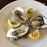 Great seafood; Hebrides oysters